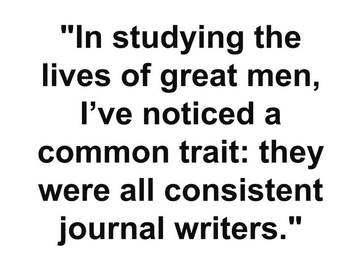 The truth of Journal writing