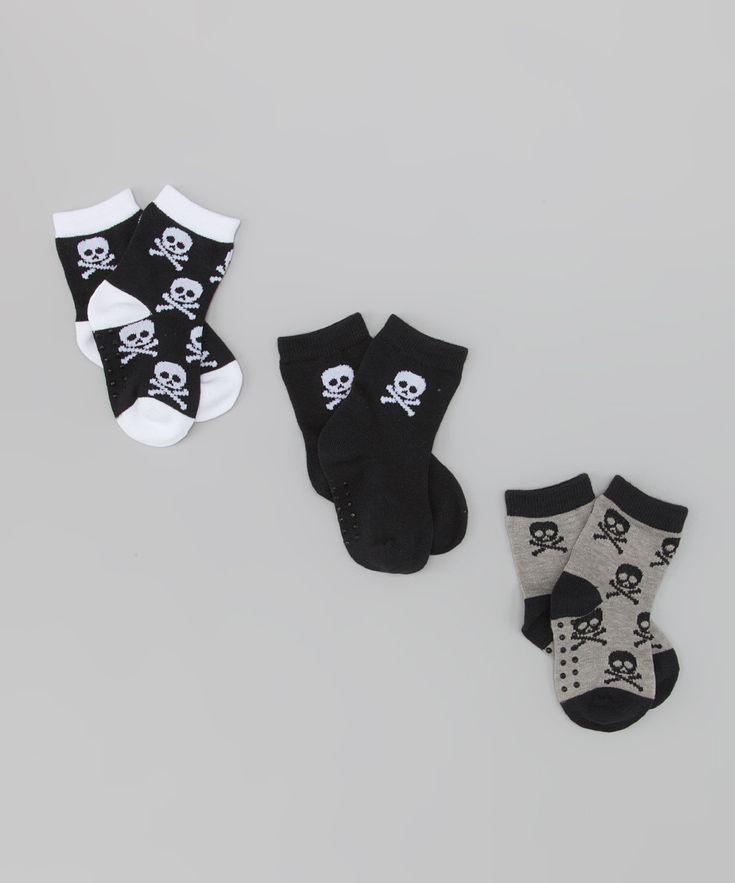 Black Skull Organic Socks Set   Daily deals for moms, babies and kids