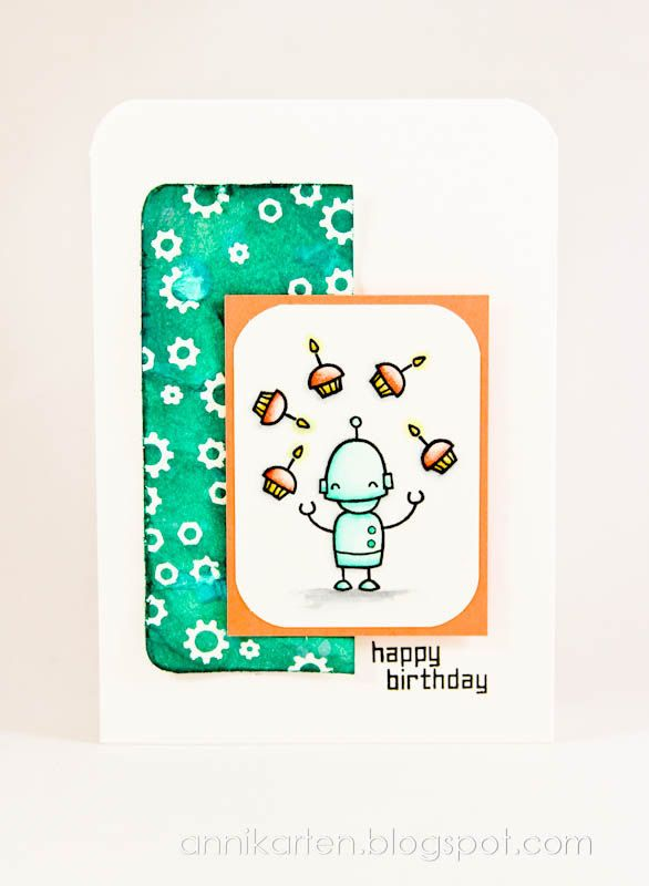 Lawn Fawn - Beep Boop Birthday _ adorable juggling robot by Anni via Flickr - Photo Sharing!