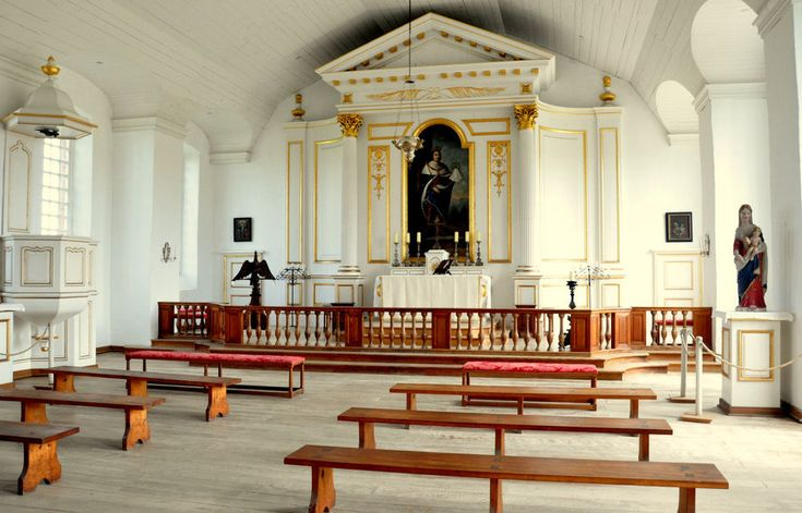Inside the chapel at Fortress Louisbourg, NS, Canada