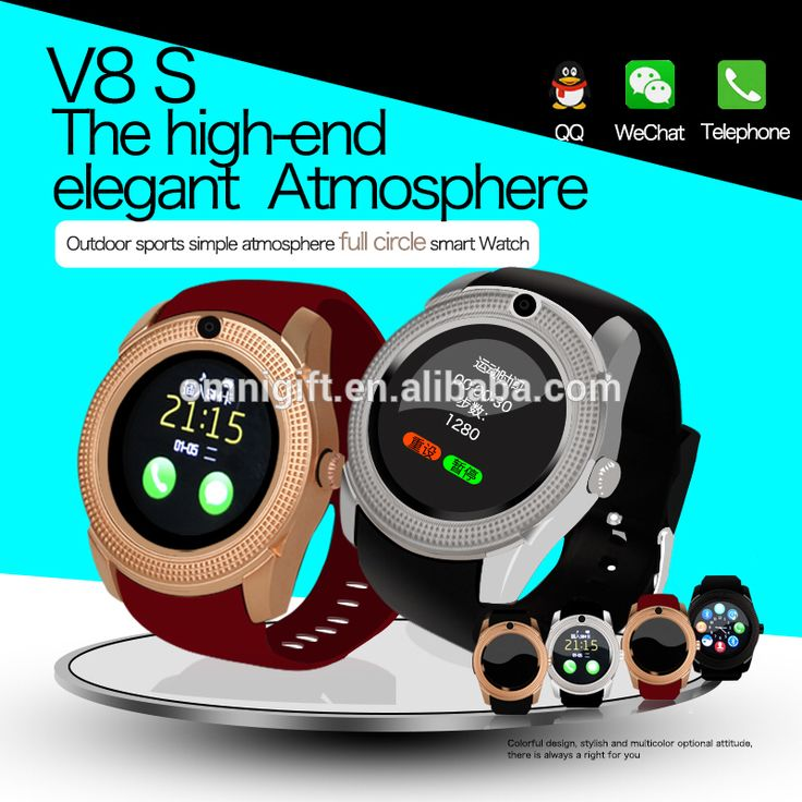 New model smart wristwatch v8 mens designer watches with MTK6261CPU smart watch price With Camera FM