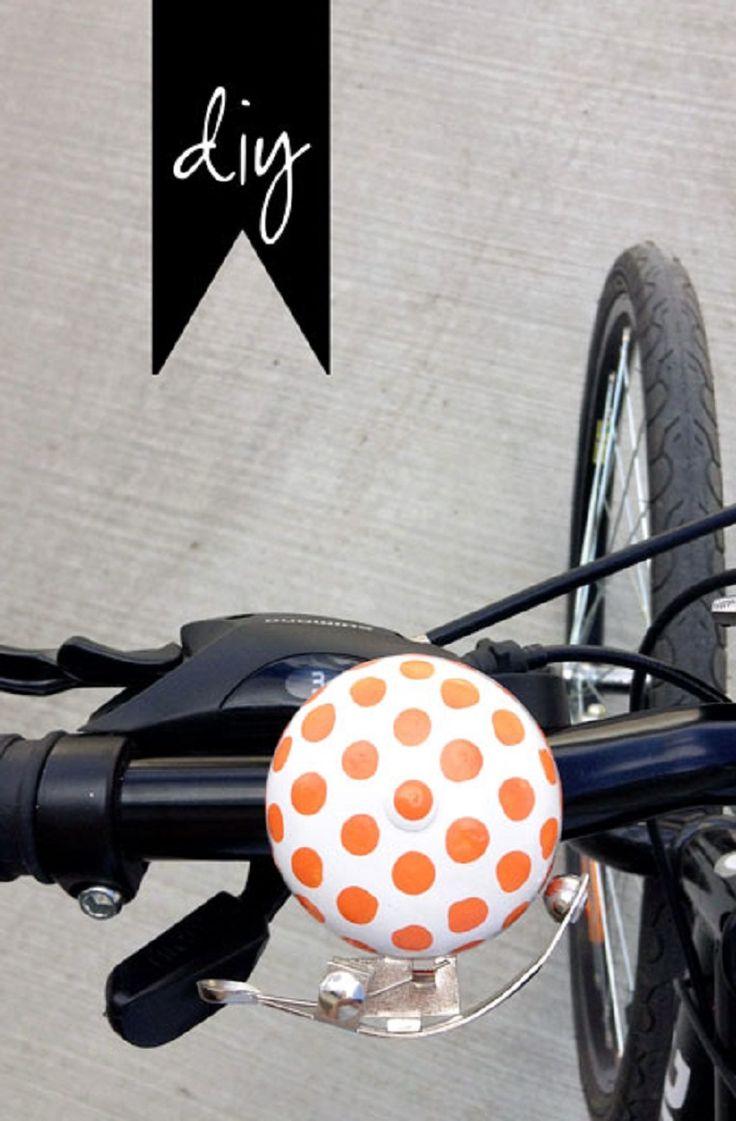 DIY Fuuvi Inspired Bike Bell - 15 Chic DIY Ideas to Update Your Bike | GleamItUp