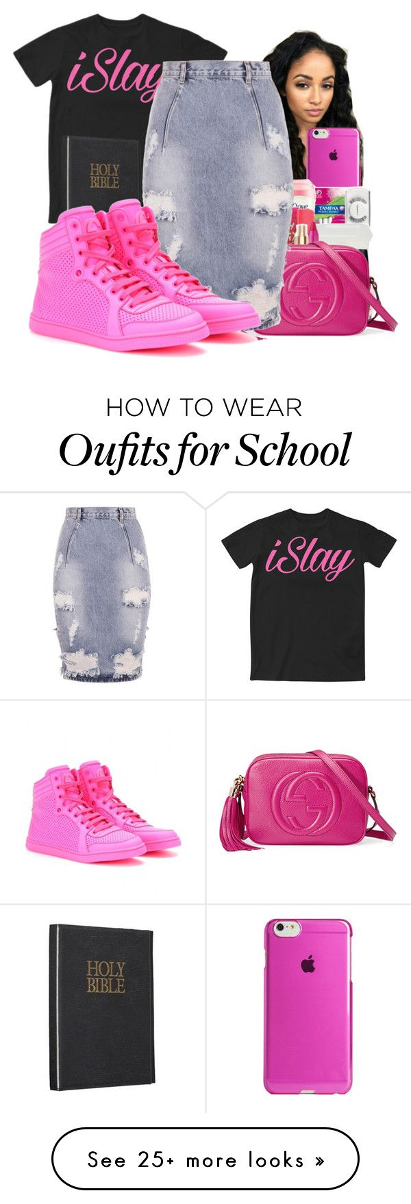 """""""School and Church Tomorrow"""" by shamyadanyel on Polyvore featuring Islay, Agent 18, Gucci and One Teaspoon"""