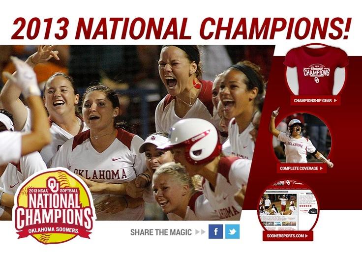 OU Softball - 2013 National Champions!!