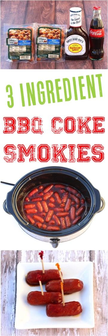 Crockpot BBQ Smokies in Barbecue Sauce Recipe! This Smoked Sausages Appetizer is perfect for your next party!
