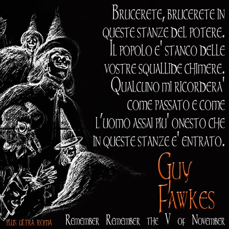 Remember Remember the Fifth of November - Guy Fawkes - Plus Ultra Roma