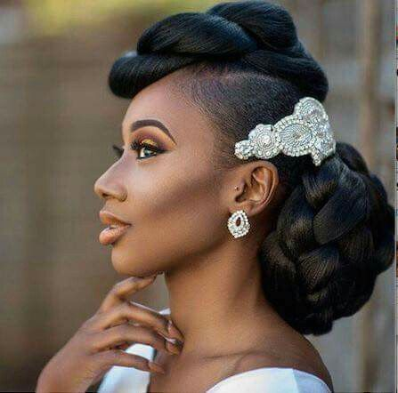 23 best images about Natural Hair Brides With Up-Do ...
