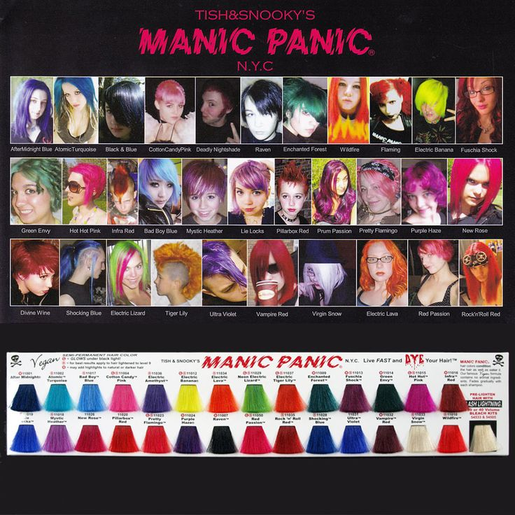 25 Best Ideas about Manic Panic Color Chart – Sample Hair Color Chart