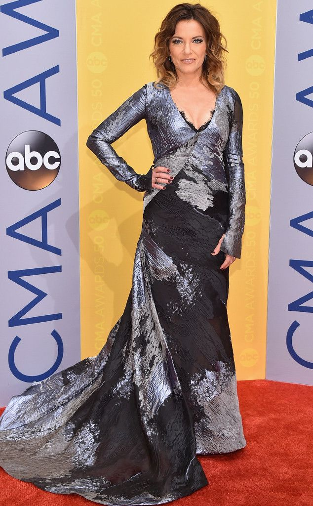 Martina McBride from CMA Awards 2016 Red Carpet Arrivals  In the middle of her Love Unleashed Tour, the country superstar makes her way to Nashville in a Rubin Singer dress.