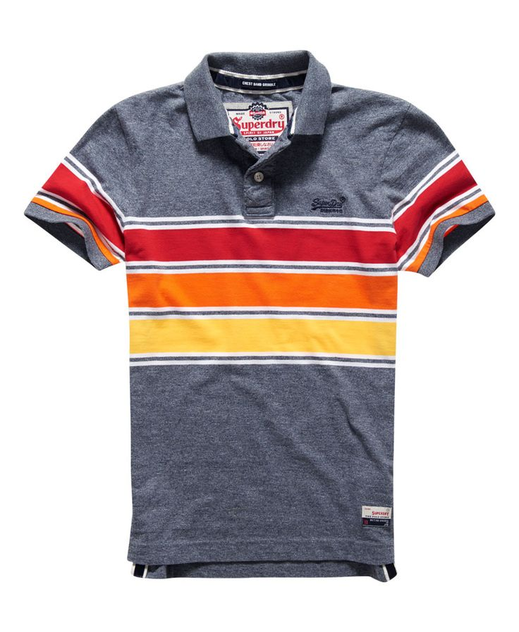 Superdry Polo Chest Band Grindle - Polos para Hombre