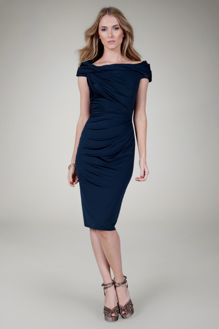 Atria 8000 asymmetrical cutout sleeve cocktail dress by atria 1 1 - I Think This Is The Perfect Choice For An Office Holiday Party Flattering For Navy Cocktail Dressfitted