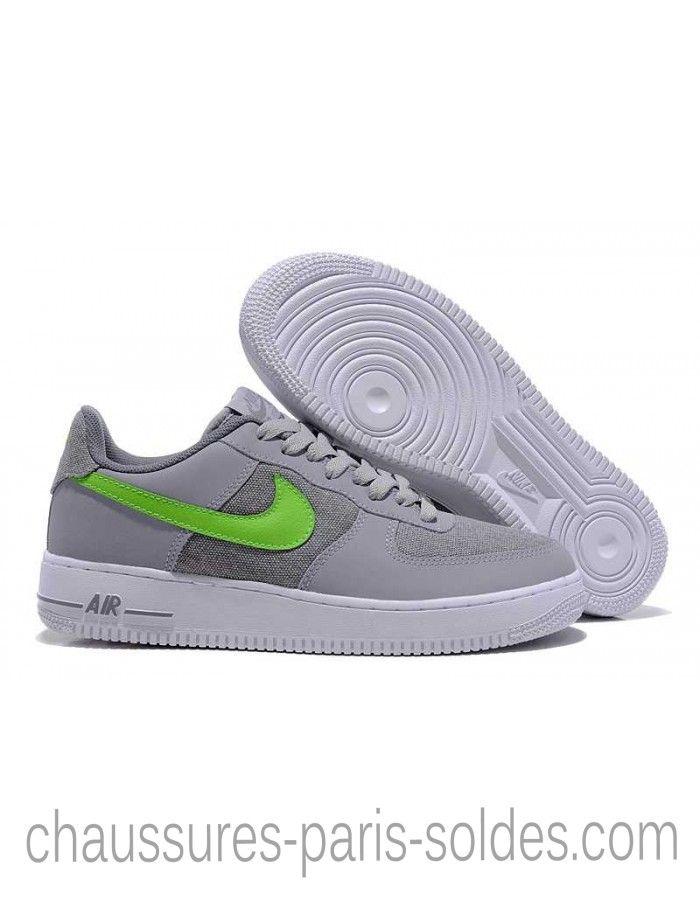 Dégagement Nike Air Force 1 Low Homme Weave Gray Vert