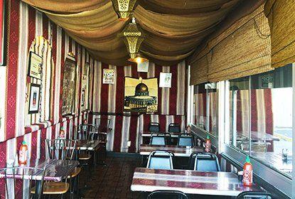 Jerusalem Restaurant,  1890 E Evans Ave,  80210 Denver CO - Spécialisé en aliments sains, naturels, faitmaison et libre de conservateurs - y compris des offres sans viande et sans gluten. Utilise des produits bio et frais provenant de fournisseurs locaux autant que possible.