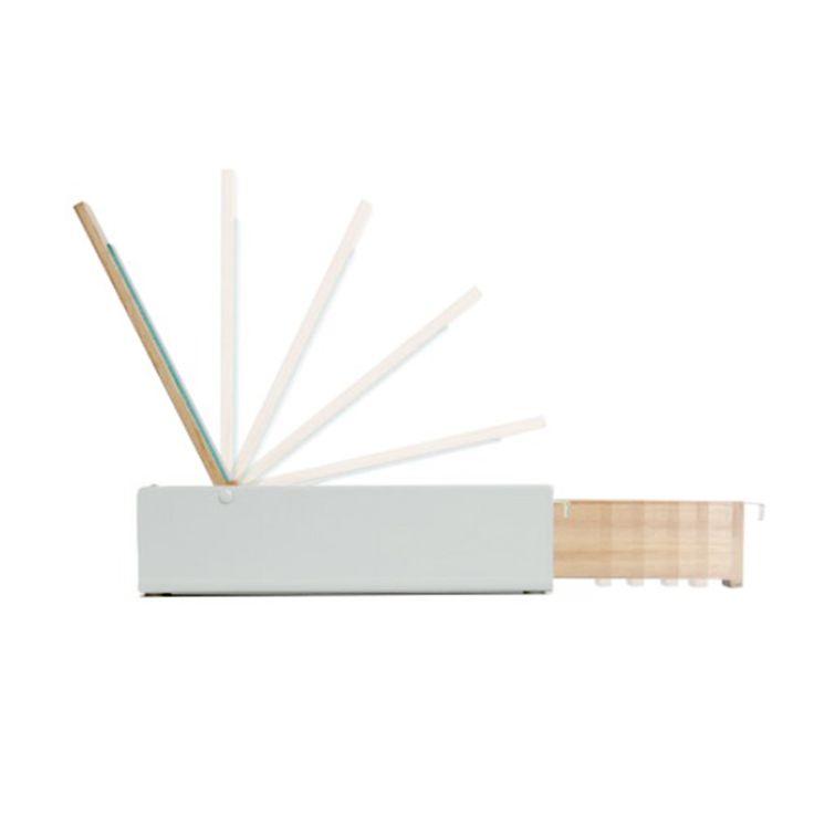 Joyero blanco y madera con espejo   o2lifestyle