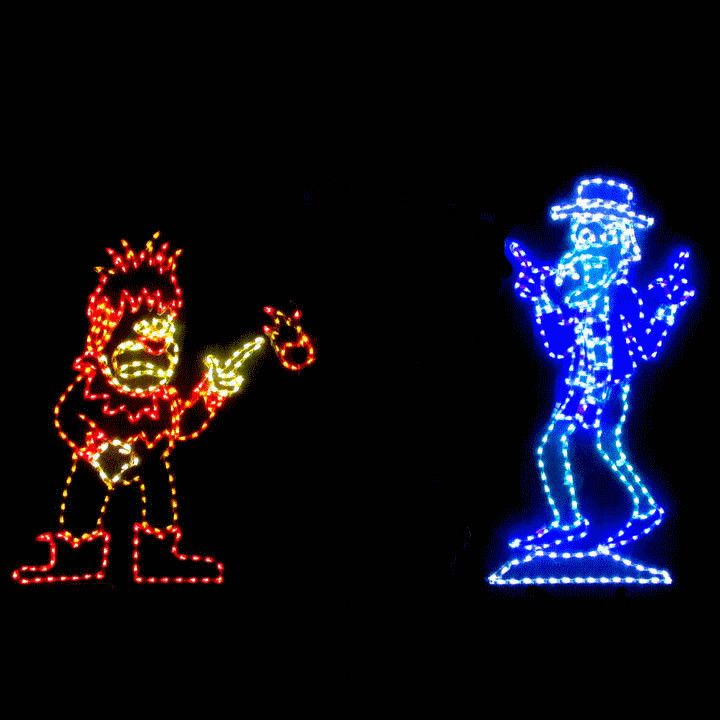LED Animated Christmas Display, Miser Brothers