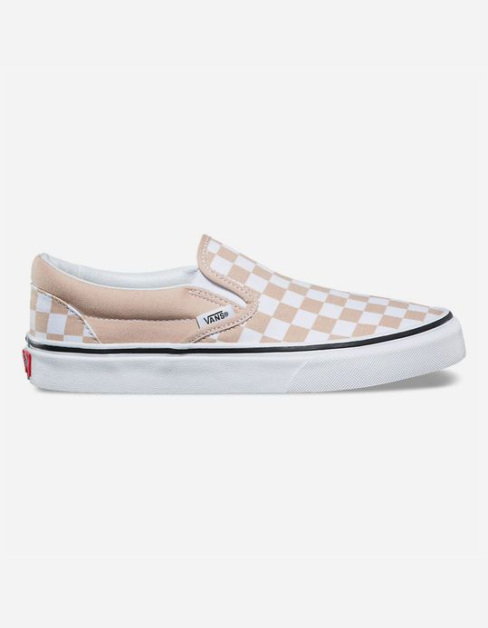 b5b177f8 Size 9 | VANS Checkerboard Frappe & True White Womens Slip-On Shoes ...