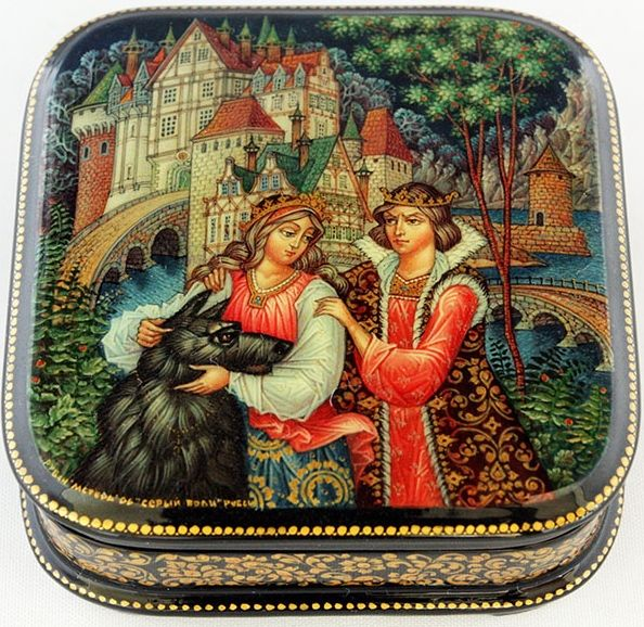 Ruben, Mstera lacquer box, The grey wolf fairy tale