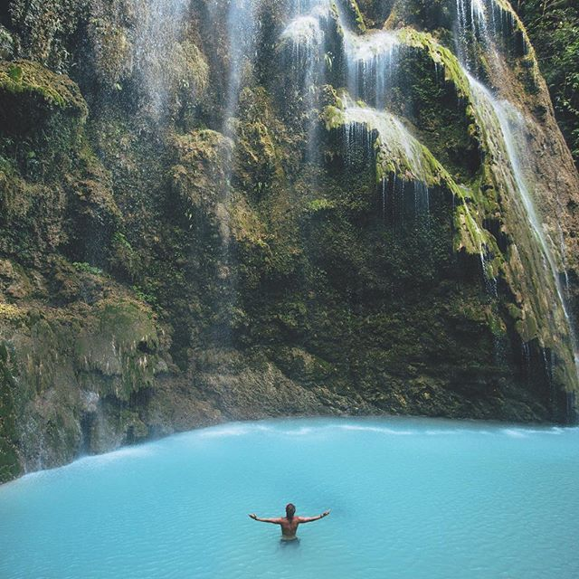 Spent today chasing waterfalls and swimming with whale sharks. Oslob, Philippines.