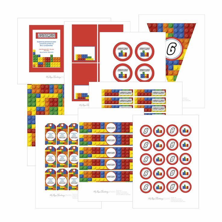 Fiesta Imprimible Lego Personalizada
