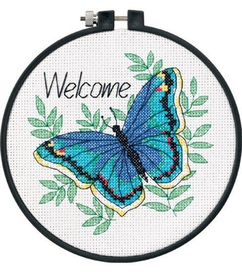 Dimensions Learn-A-Craft Welcome Butterfly Ctd X-Stitch, , hi-res