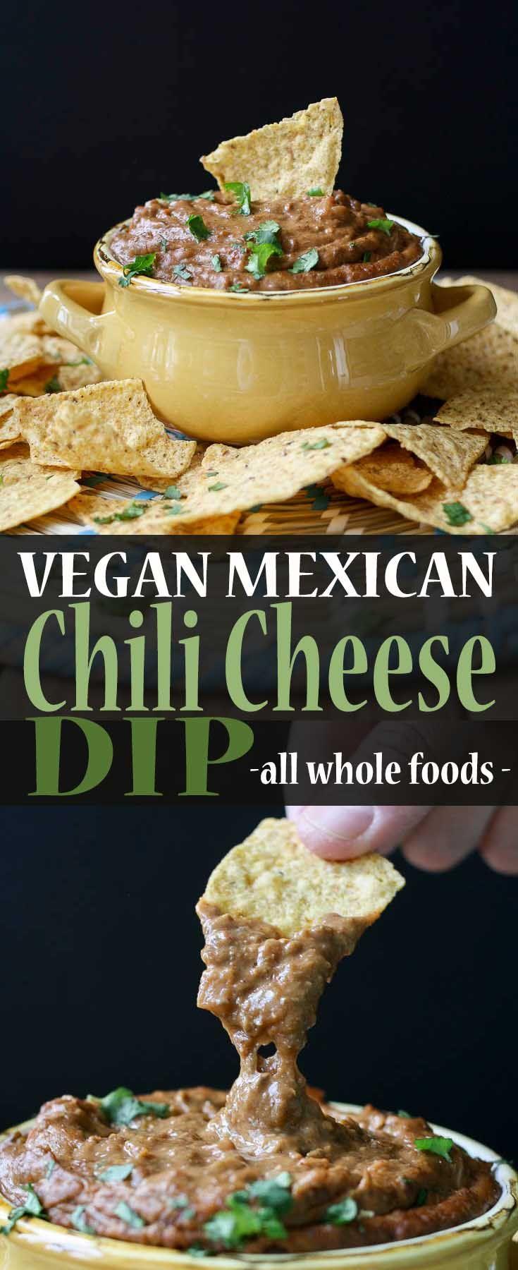 Vegan Mexican Chili Cheese Dip | www.veggiesdontbite.com | #vegan #plantbased #wholefoods #mexican #superbowl via @veggiesdontbite