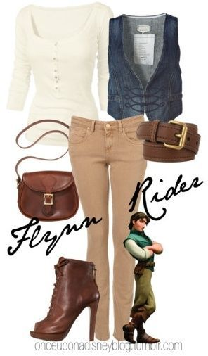 Polyvore Disney outfits for almost every ...I have the vest, maybe w/ tan shorts?