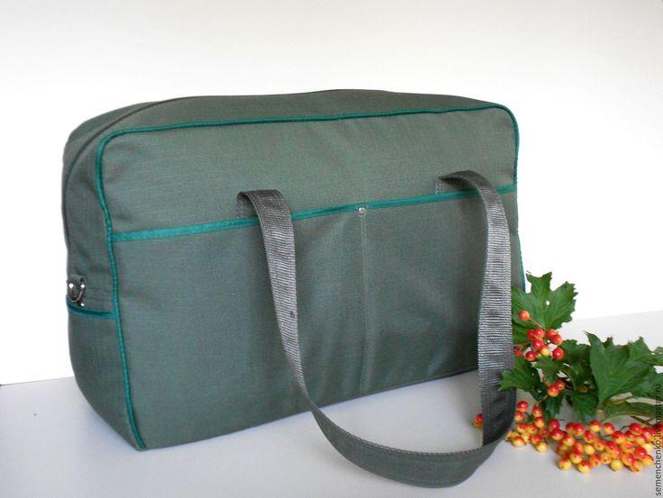 Купить Сумка для ручной клади, спортивная сумка, текстиль - хаки, однотонный, сумка спортивная