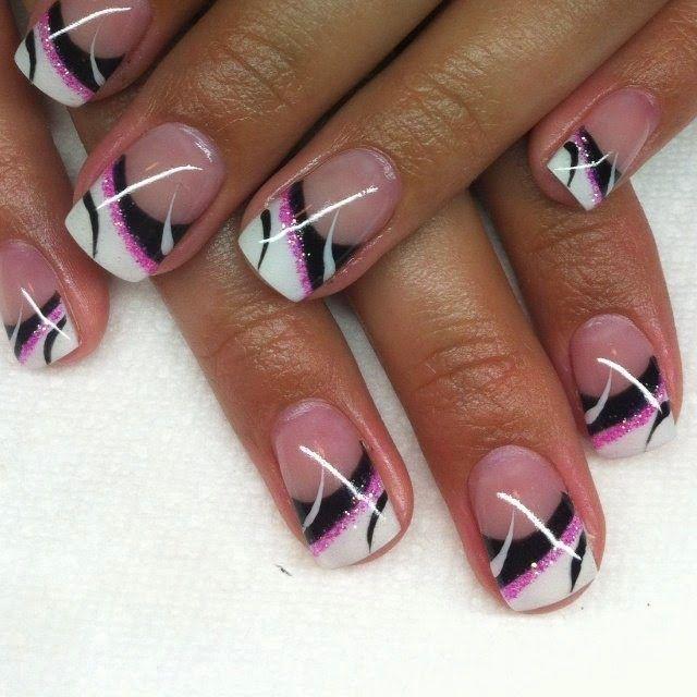 summer gel nails nail art