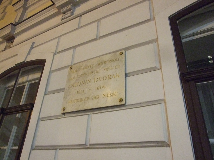 Next house, where We slept We founded memory to our famous Czech composer