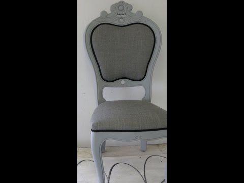 Een moderne barok stoel stofferen - YouTube