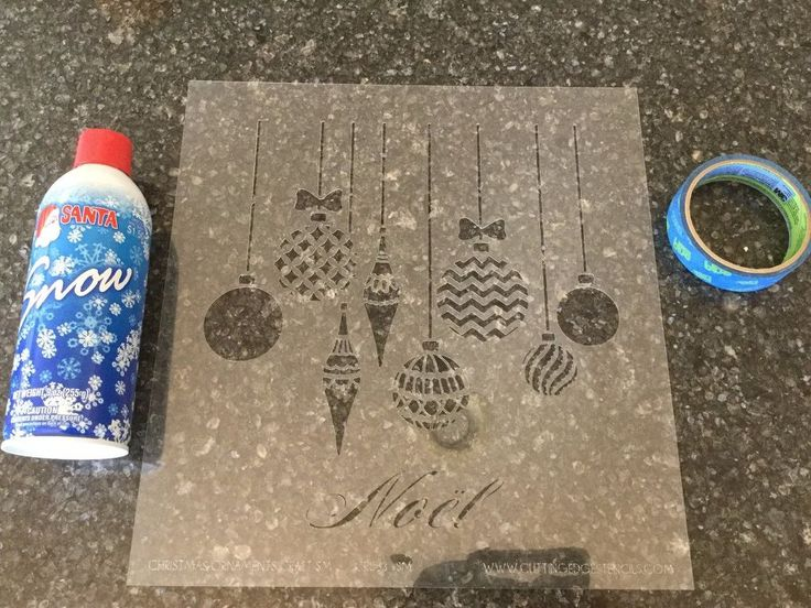 Making snowy windows and mirrors is easy and inexpensive. You'll need: A stencil - mine is from Cutting Edge Stencils Spray Snow - mine came from Walmart Painte…