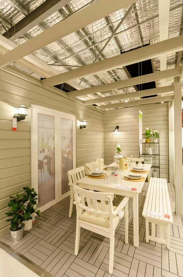 outdoor patio at ikea logan showroom