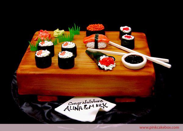 Sushi Groom's Cake