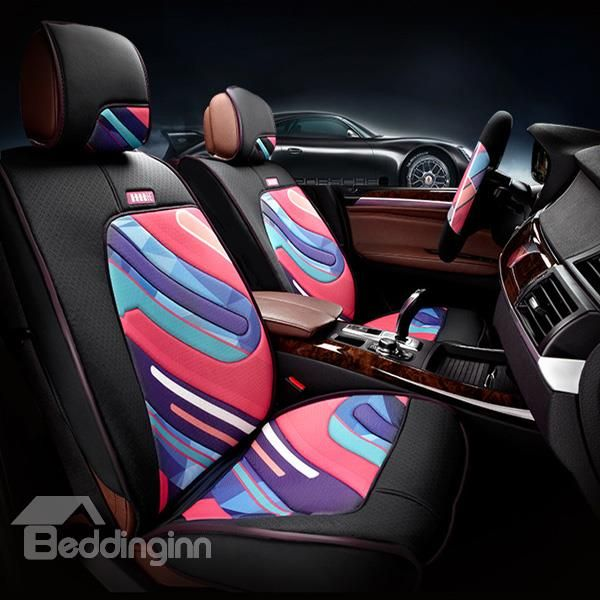 Graffiti Art And Environment Leather Car Seat Cover Decor