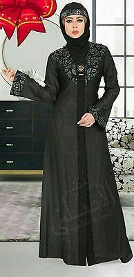 Dubai Kaftan Black Abaya Jalabiya Dress New Very Fancy Silk Wedding Abaya