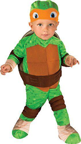 nickelodeon  ninja  turtles  michelangelo  romper  shell  and  headpiece  green  toddler12  24  months