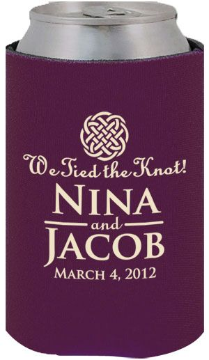 Funny Personalized Can Koozies For Weddings