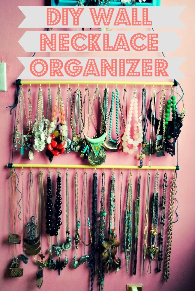 Stranger Than Vintage: Tutorial: DIY Hanging Necklace Organizer - for all your necklace organizing needs!