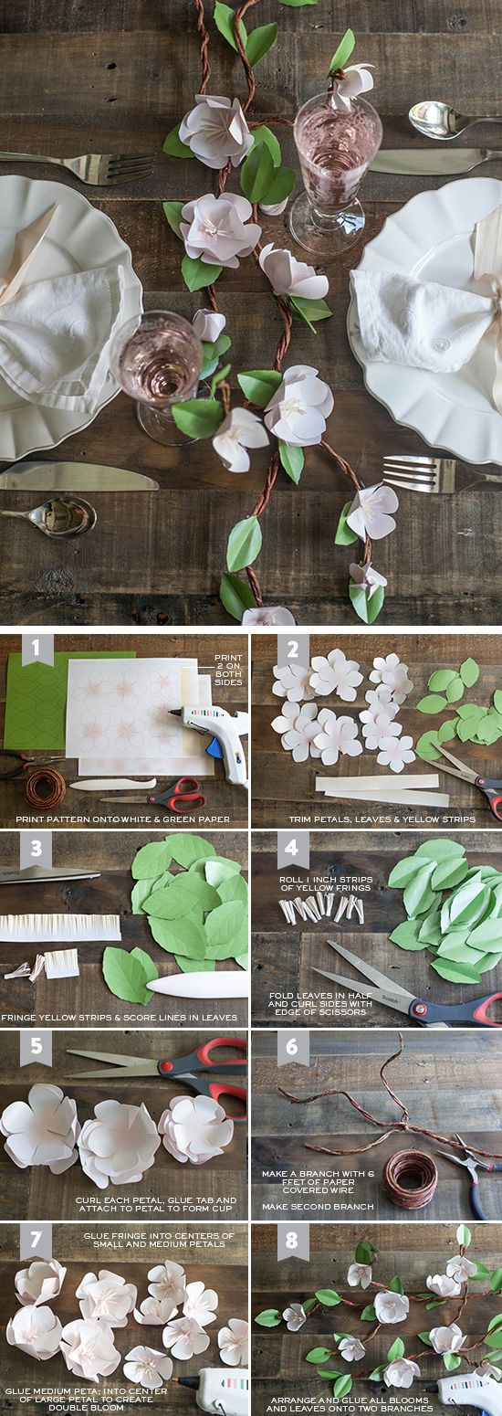 DIY Paper Apple Blossom Branches   Click Pic for 24 DIY Spring Wedding Ideas on a Budget   DIY Spring Wedding Centerpieces Ideas