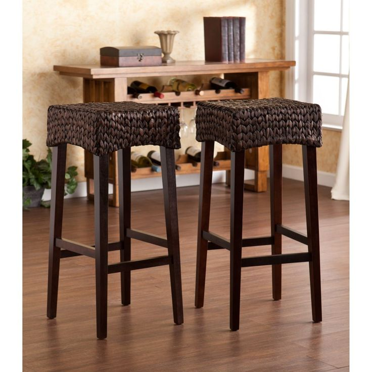 furniture black varnished segrass bar stool with wooden legs seagrass bar stools