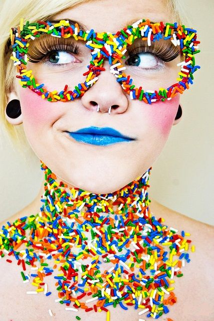 Like the glasses-maybe use nerds instead of sprinkles