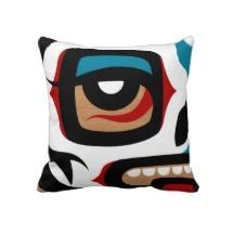 Oreiller de crâne de Haida de SKULLUXE