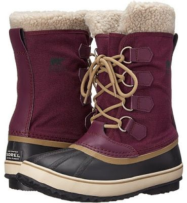 The Sorel Winter Carnival boots are designed with a waterproof nylon upper with seam-sealed waterproof construction that keeps out the wet elements for a drier, more comfortable foot environment.
