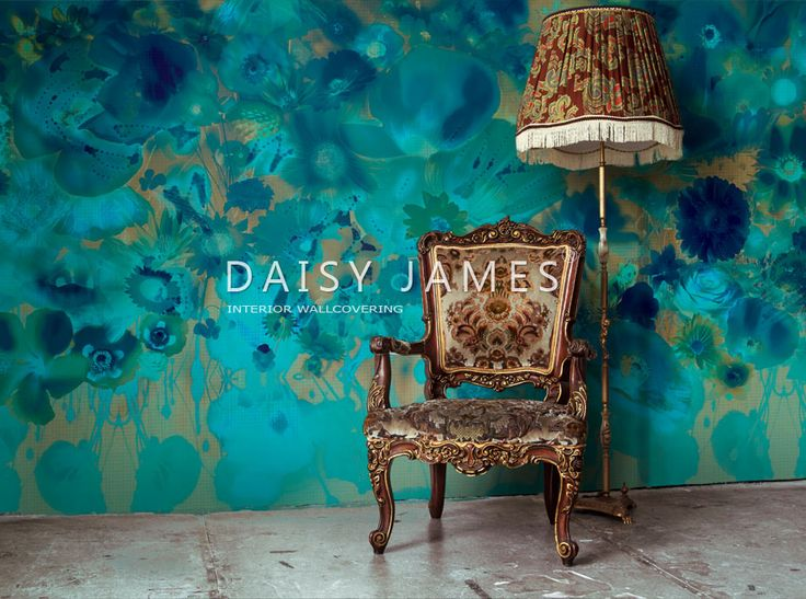 "Nieuw in de DAISY JAMES wallcover collectie ""The Evergreen"""
