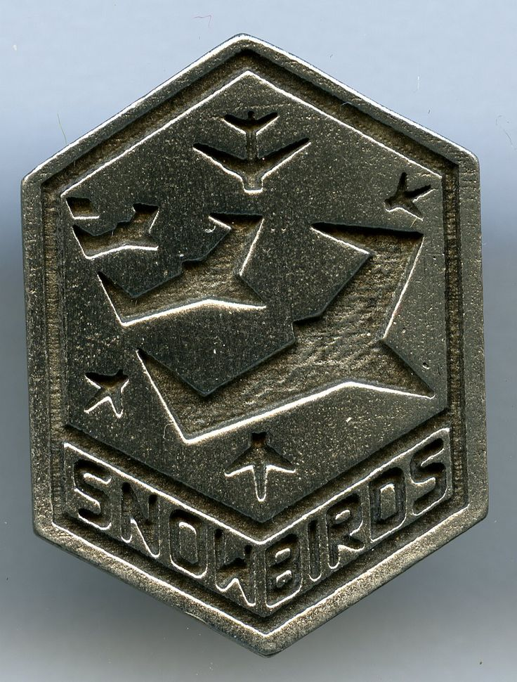 Snowbirds Pewter Crest Snowbird, Pins, Pewter