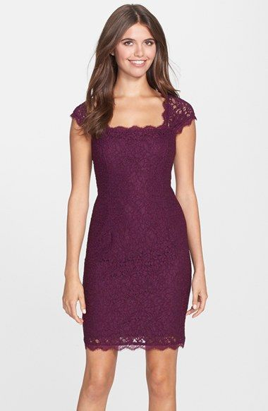 Adrianna+Papell+Lace+Sheath+Dress+(Regular+&+Petite)+available+at+#Nordstrom Christmas Party dress?