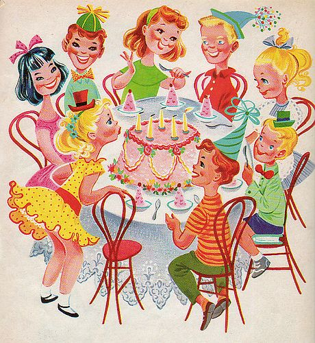 Happy Birthday, Illustrations by Retta Worcester, 1960- Party Time
