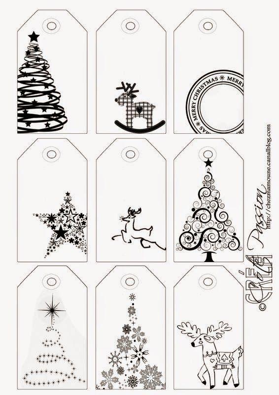 Etiquetas para regalos de navidad – Dibujalia Blog