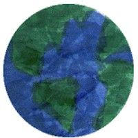 Tissue Paper Earth Craft... for Earth Day. Older students can label