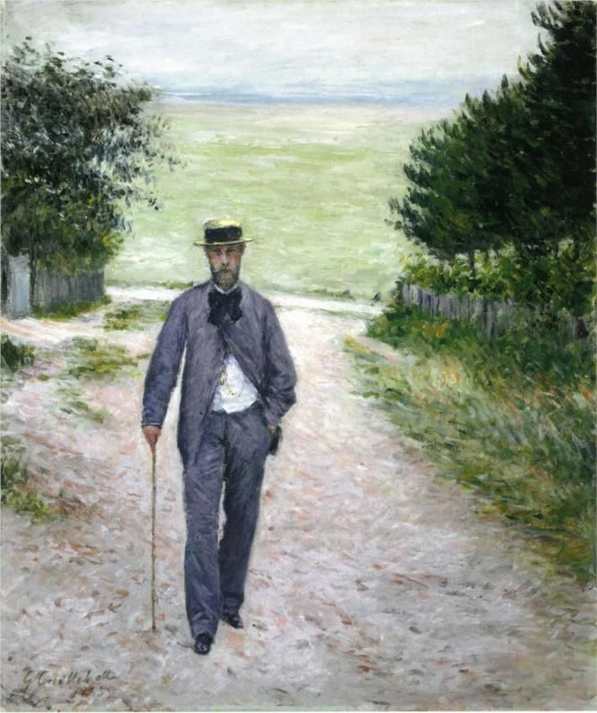 By the Sea, 1888-1894, oil on canvas, Private Collection, Impressionism, Gustave Caillebotte (1848-1894).